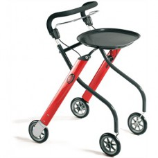 Let's Go Indoor Rollator Rood/Antraciet